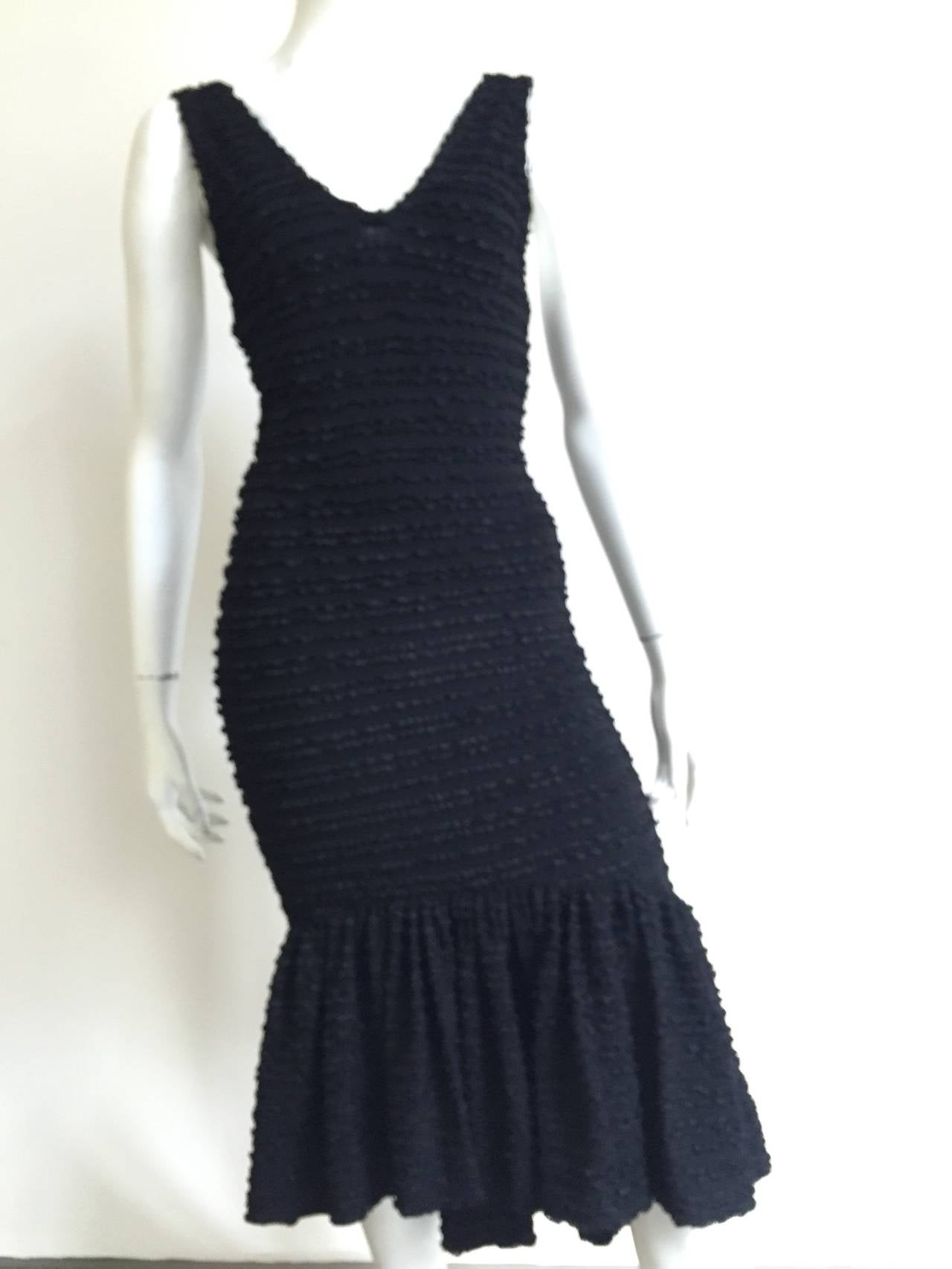 Patrick Kelly Paris 1986 Black Dress Size 4. 10