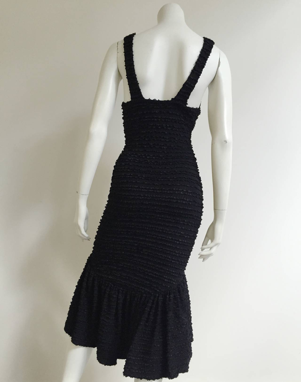 Patrick Kelly Paris 1986 Black Dress Size 4. 5