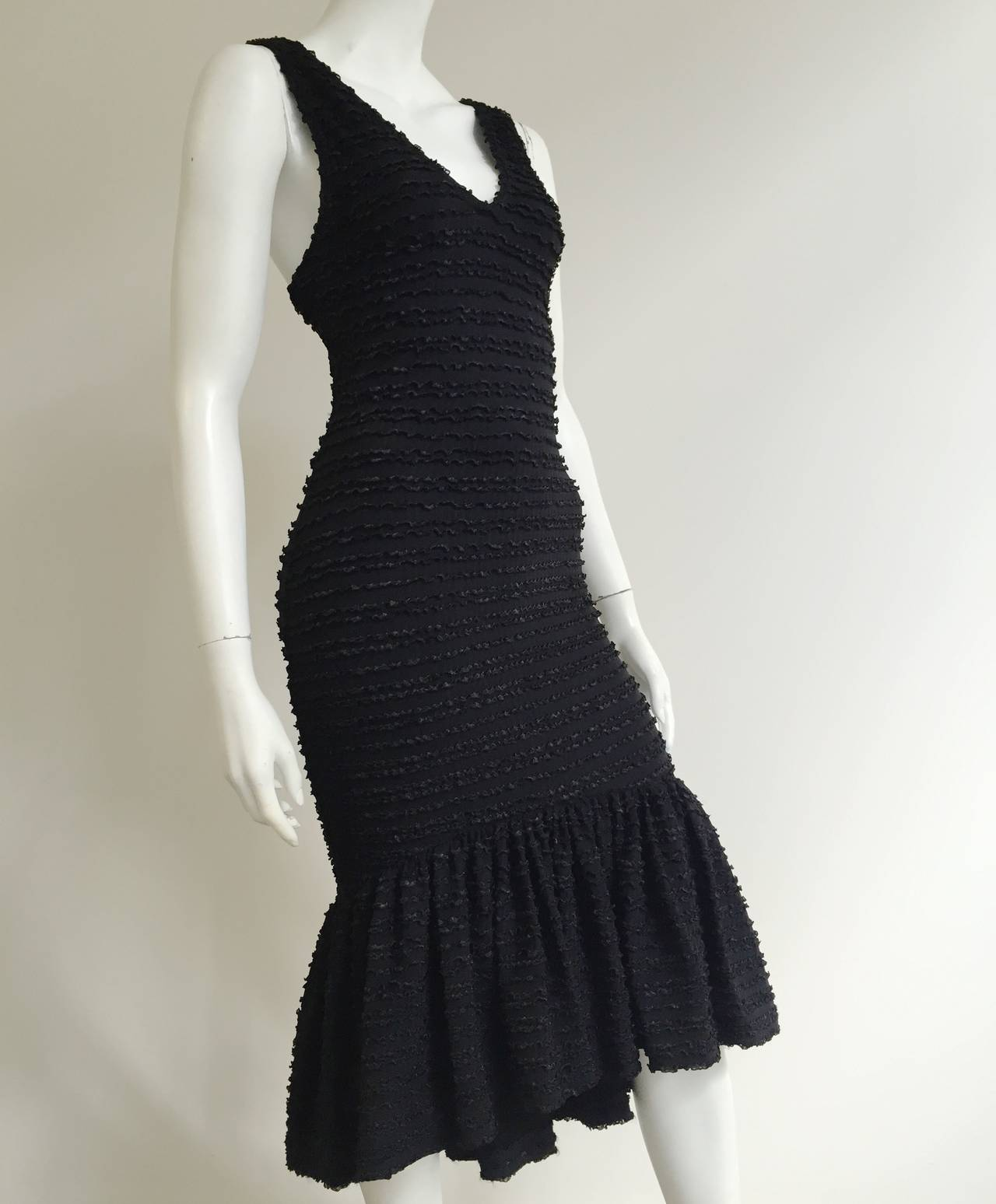 Patrick Kelly Paris 1986 Black Dress Size 4. 7