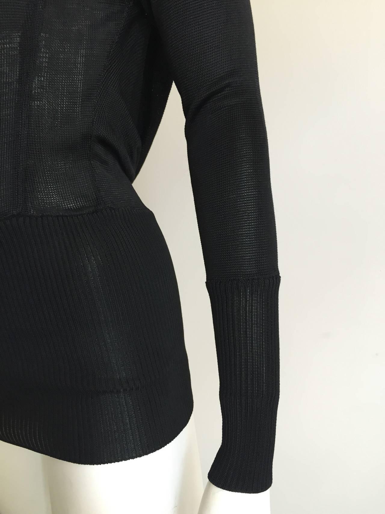 Claude Montana 80s Black Top Size 4 / 6. 3