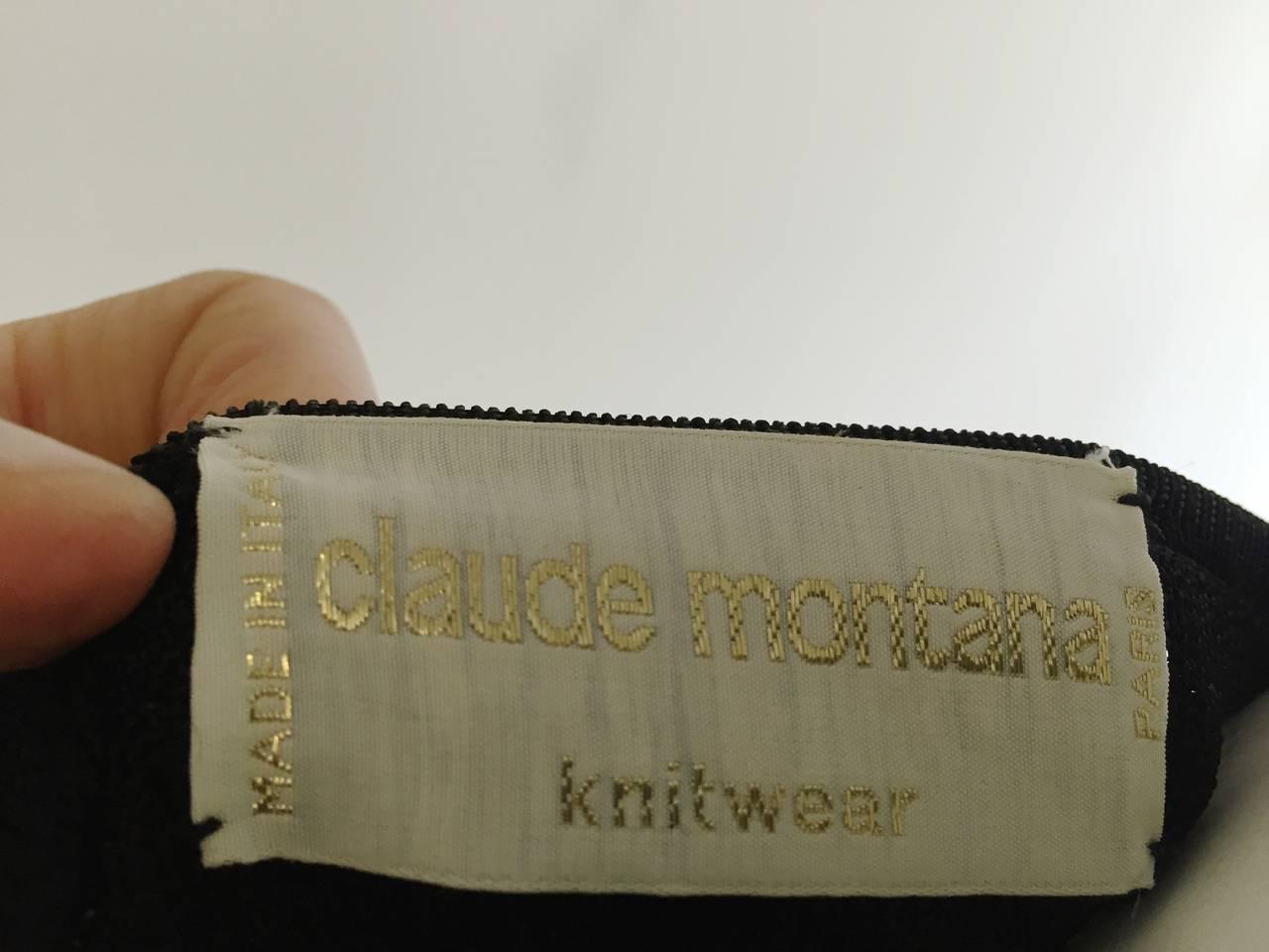 Claude Montana 80s Black Top Size 4 / 6. 8