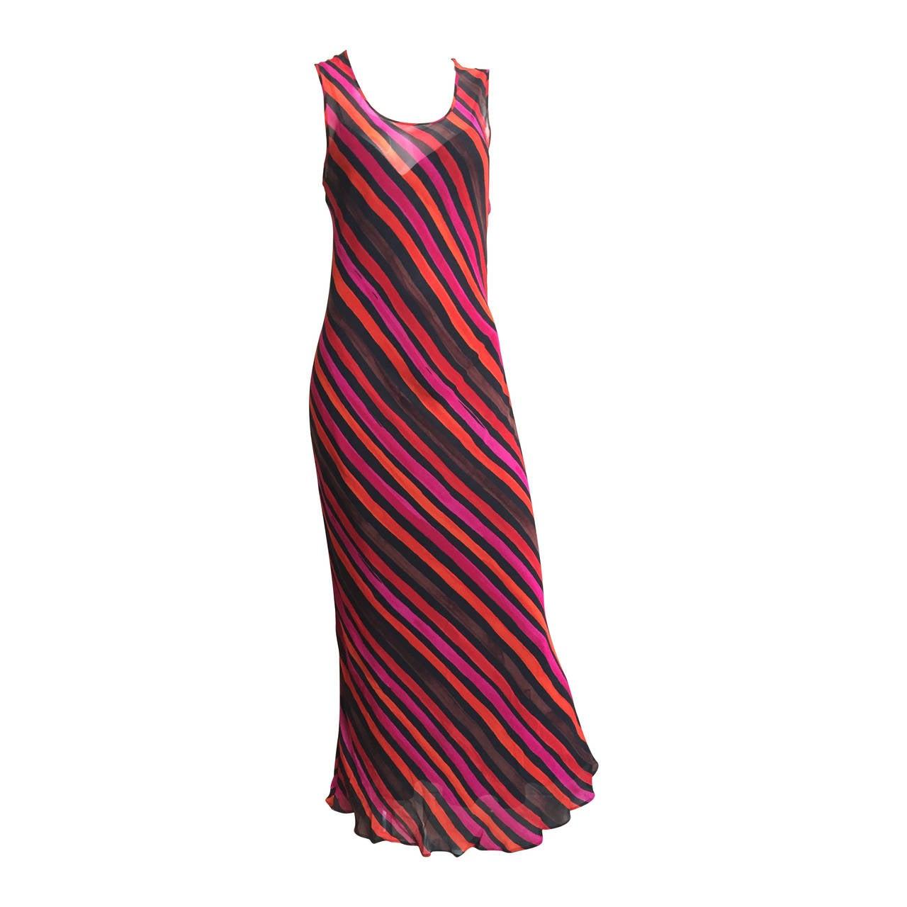Sonia Rykiel  Striped Dress Size 4 / 6. For Sale
