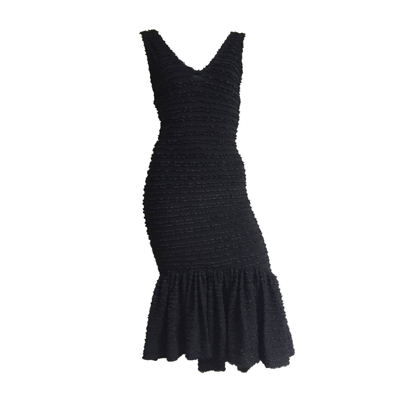 Patrick Kelly Paris 1986 Black Dress Size 4.
