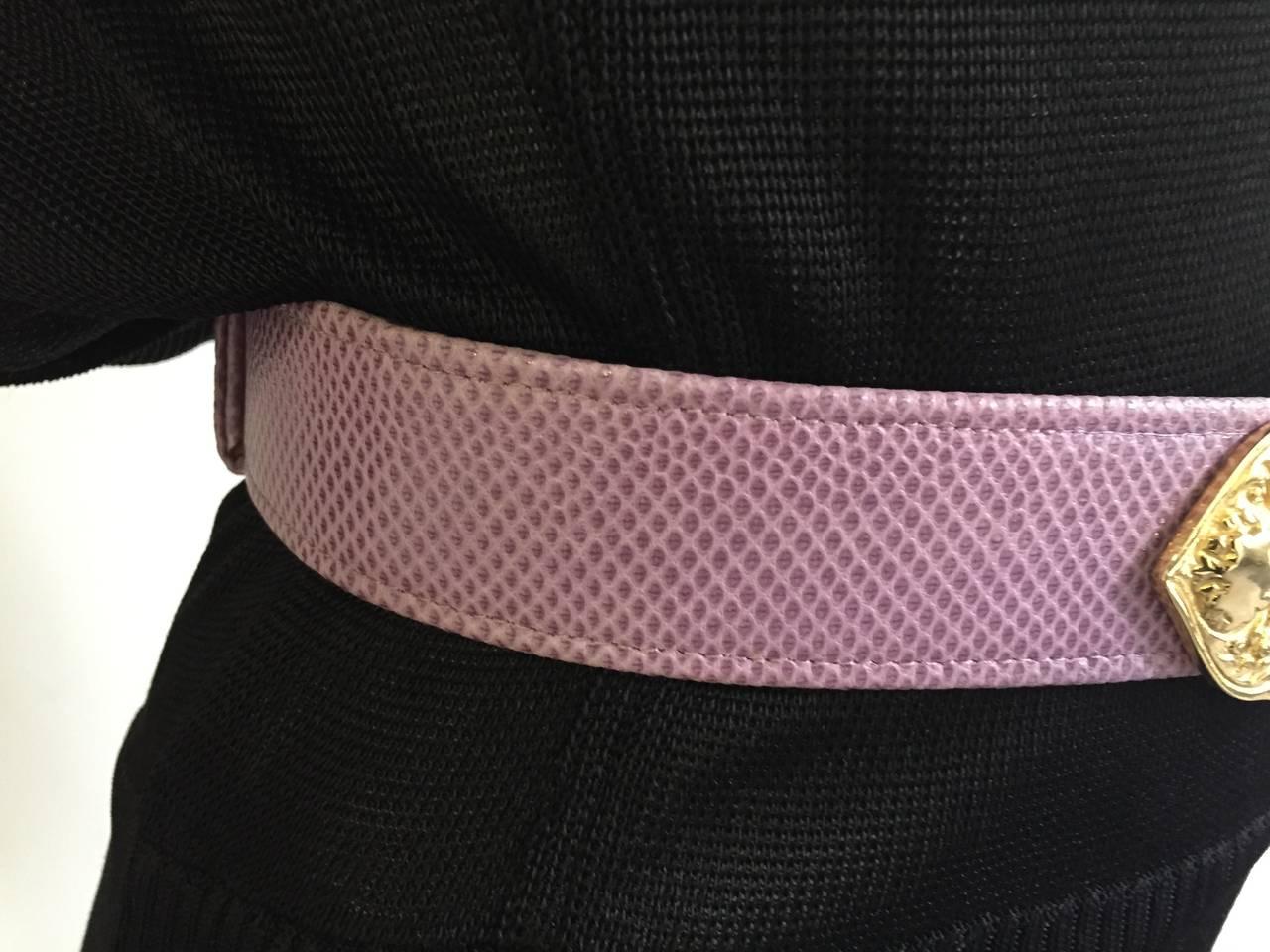 Alexis Kirk 80s purple snake skin belt. 3