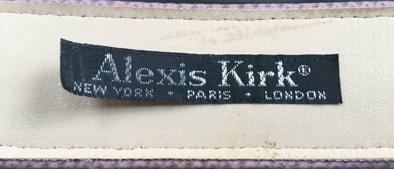 Alexis Kirk 80s purple snake skin belt. 5