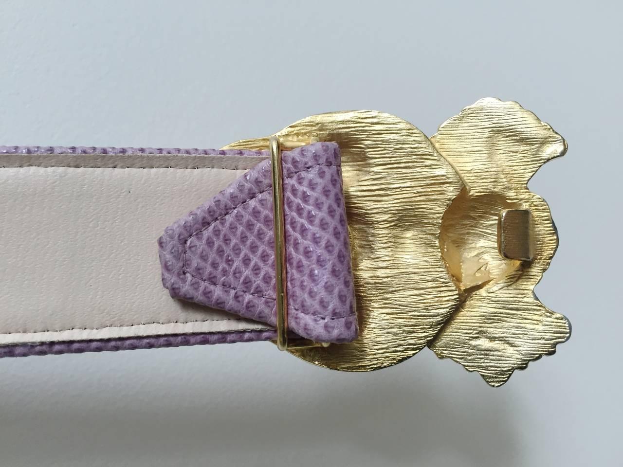 Alexis Kirk 80s purple snake skin belt. 8