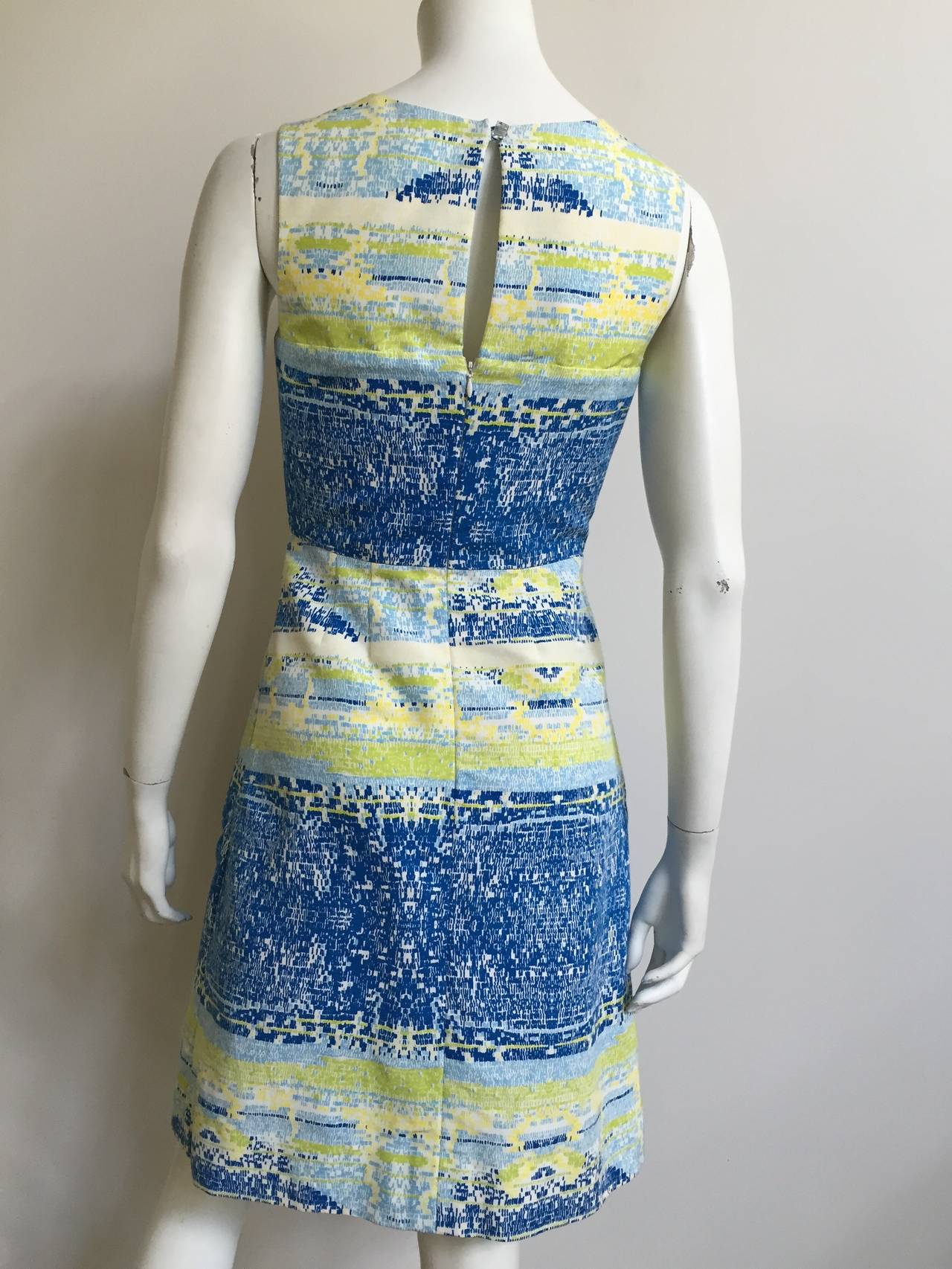 Bill Blass by Peter Som 2009 Cotton Dress With Pockets Size 4. 5