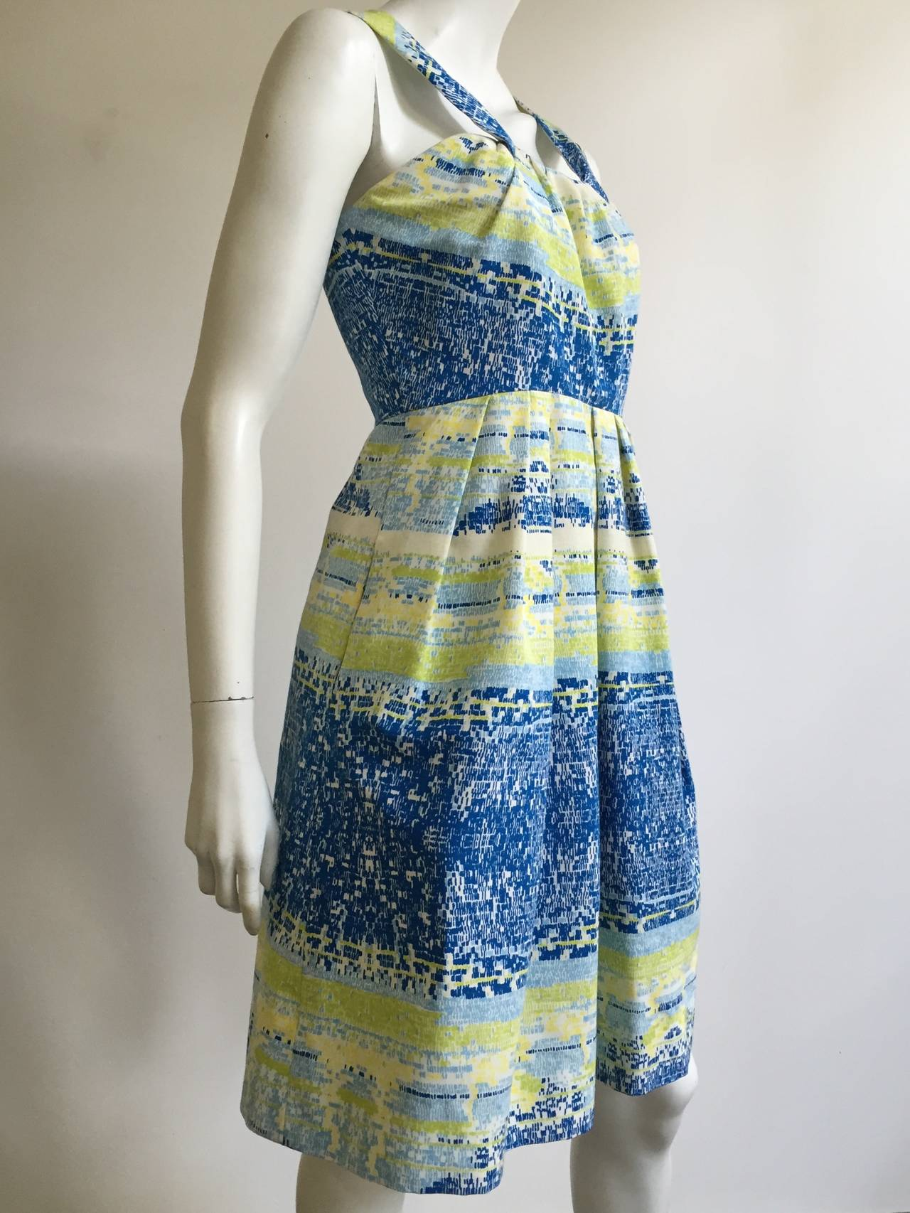 Bill Blass by Peter Som 2009 Cotton Dress With Pockets Size 4. 7