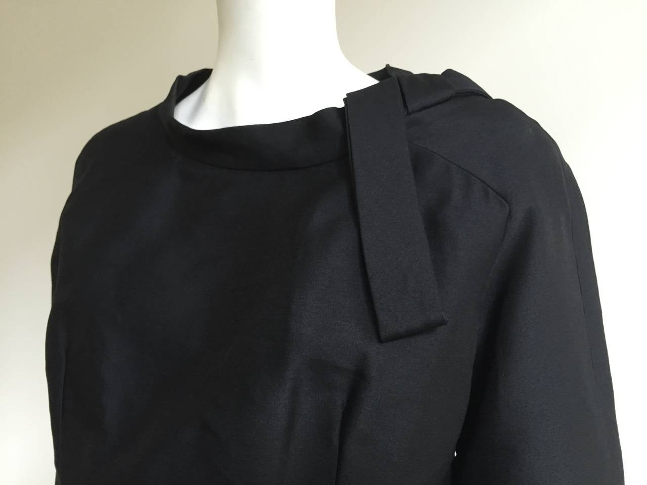 Dior 1950s Black Silk Evening Dress With Pockets Size 6. 7