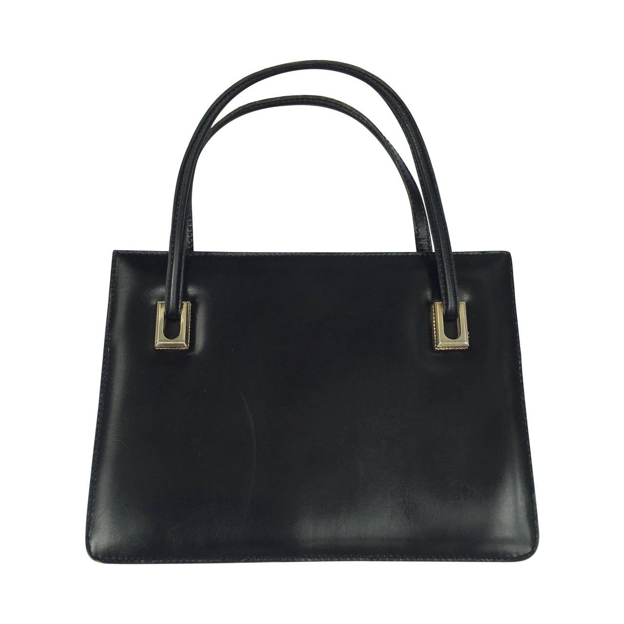 Loewe 60s black leather handbag. 1