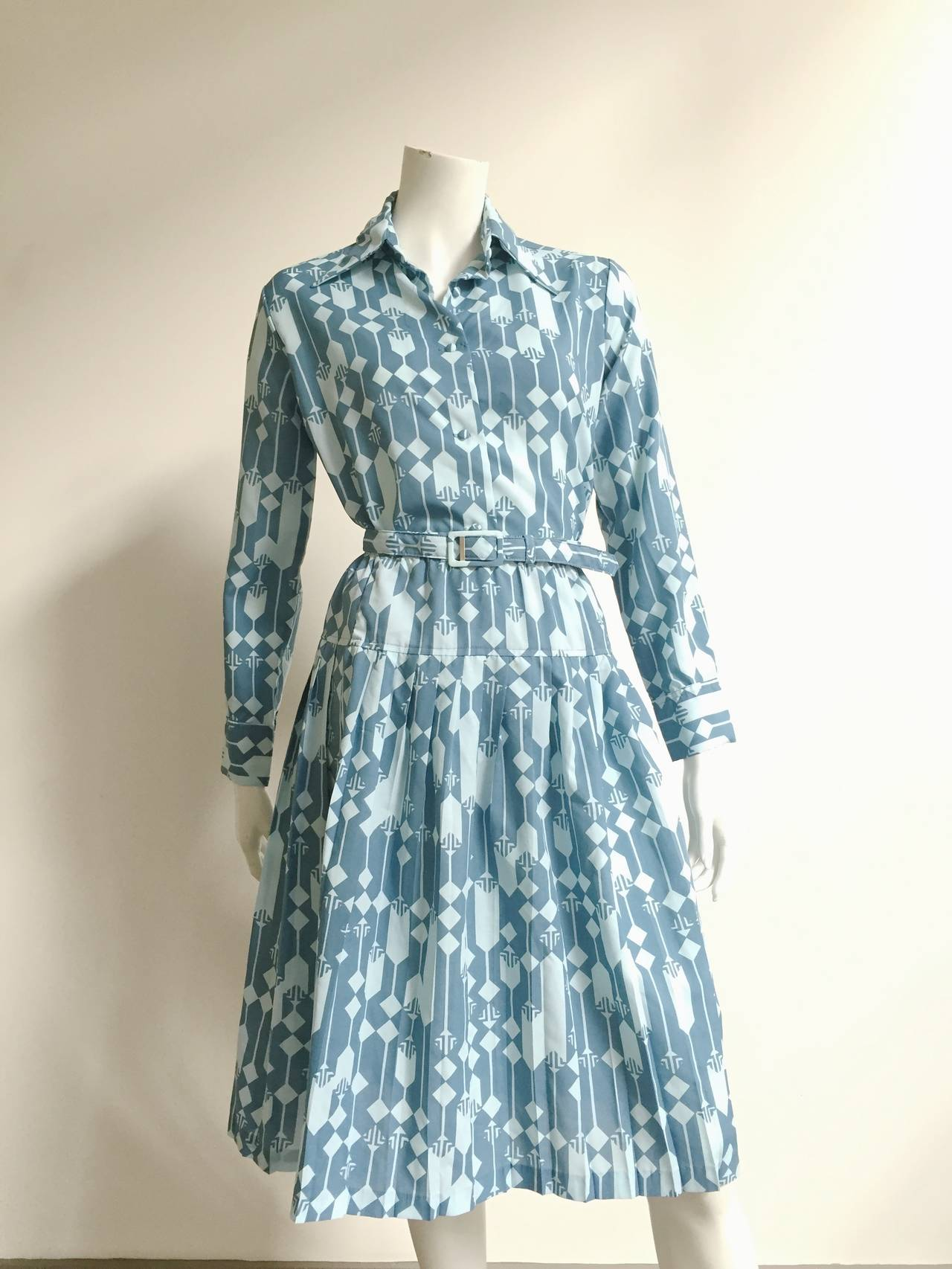 Lanvin Blouse, Skirt & Belt Dress Set Size 8. For Sale 4