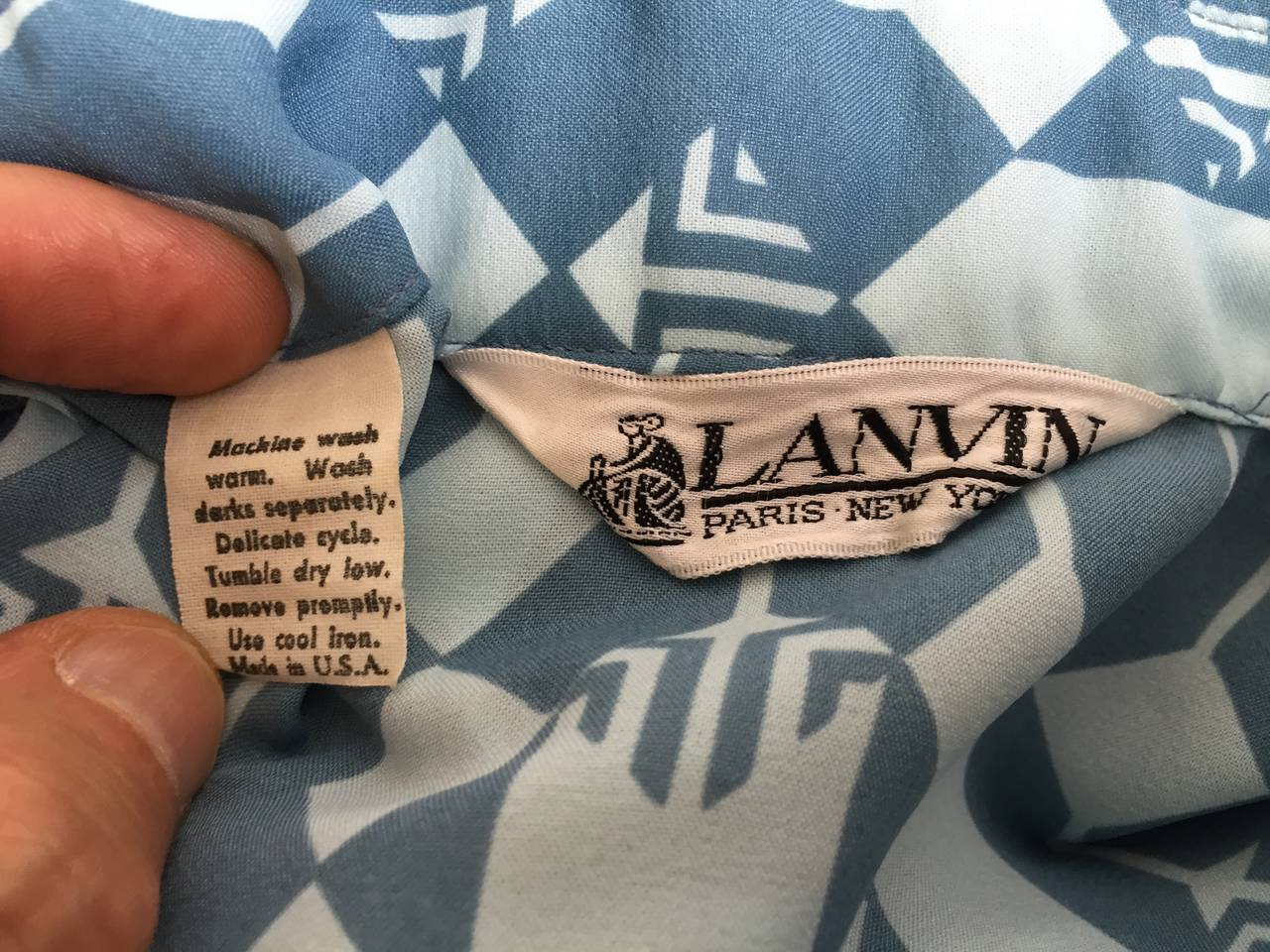 Lanvin Blouse, Skirt & Belt Dress Set Size 8. For Sale 2
