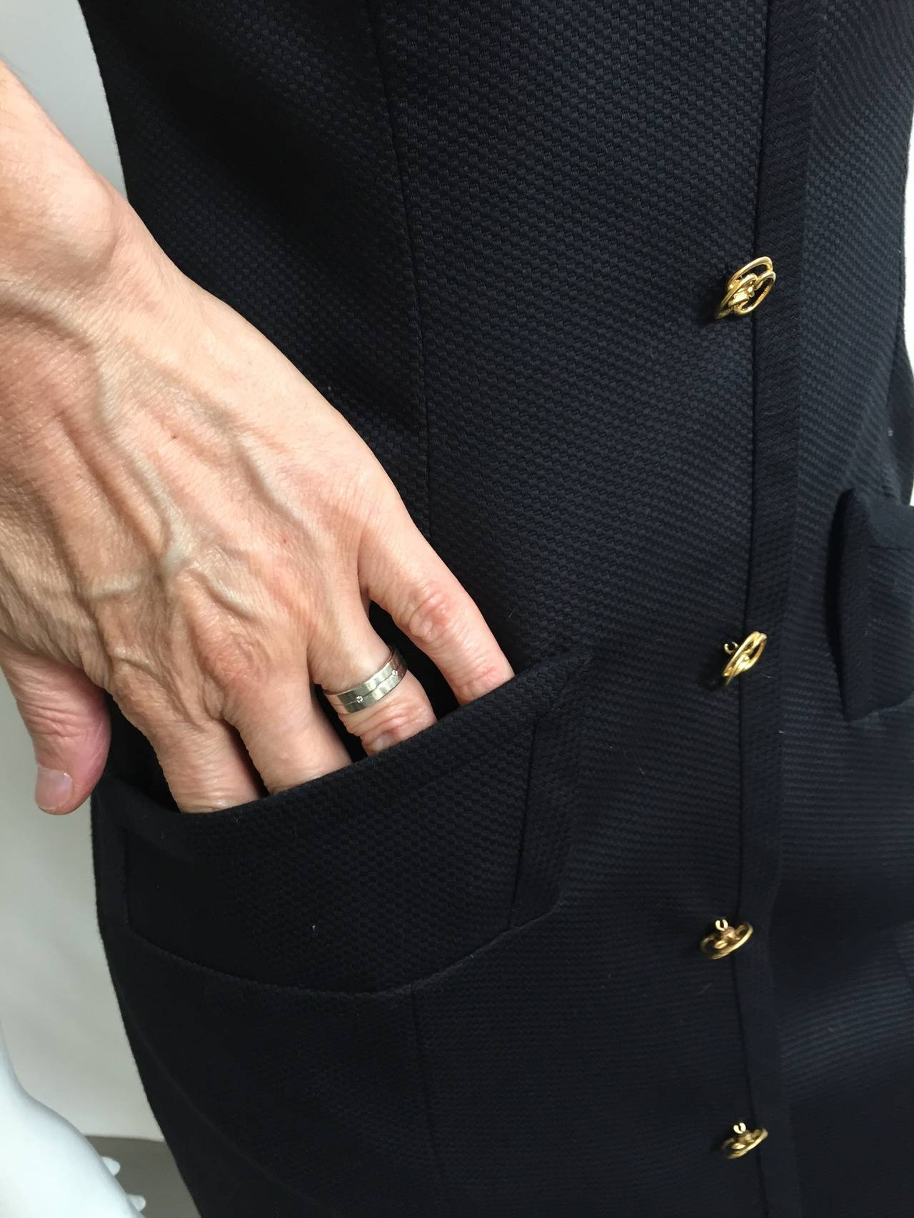 Bill Blass 90s Black Strapless Dress With Pockets Size 4. 3