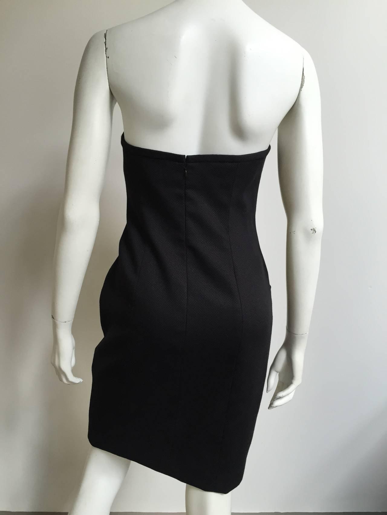 Bill Blass 90s Black Strapless Dress With Pockets Size 4. 6