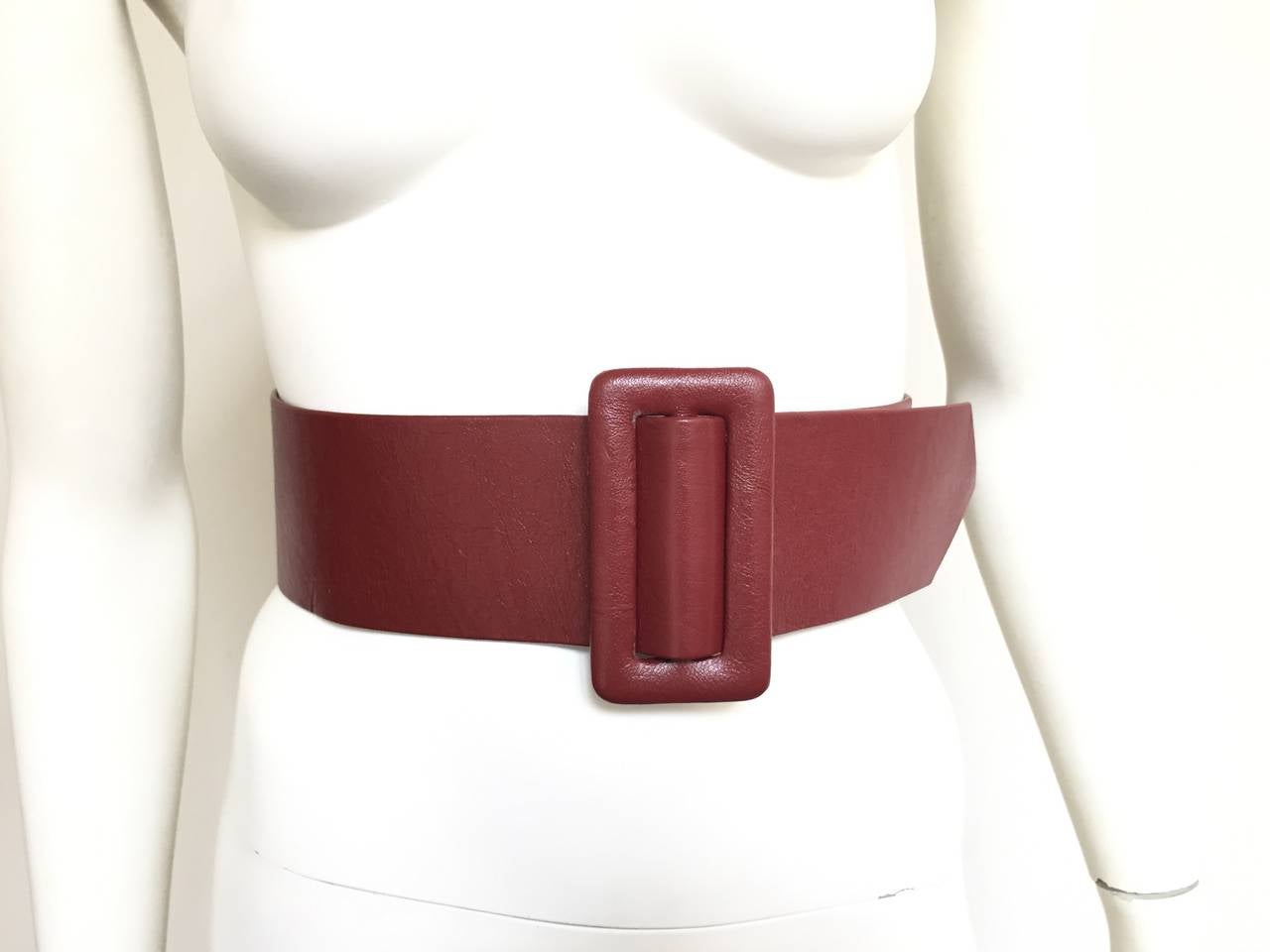 Geoffrey Beene Wide Leather Belt, 1980s  For Sale 2