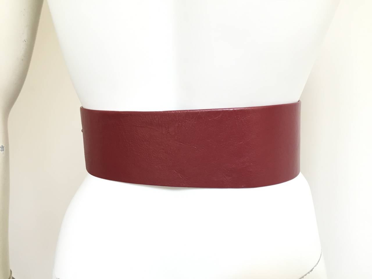 Geoffrey Beene Wide Leather Belt, 1980s  In Good Condition For Sale In Atlanta, GA