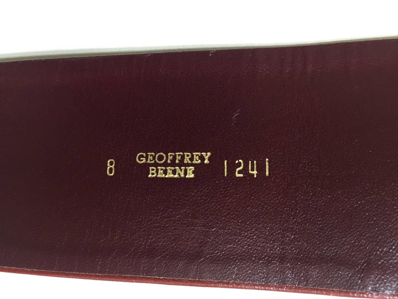 Women's Geoffrey Beene Wide Leather Belt, 1980s  For Sale