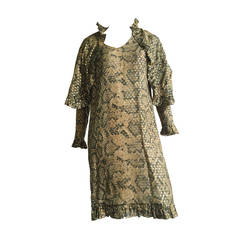 Bill Blass 70s Silk Dress Size 12.