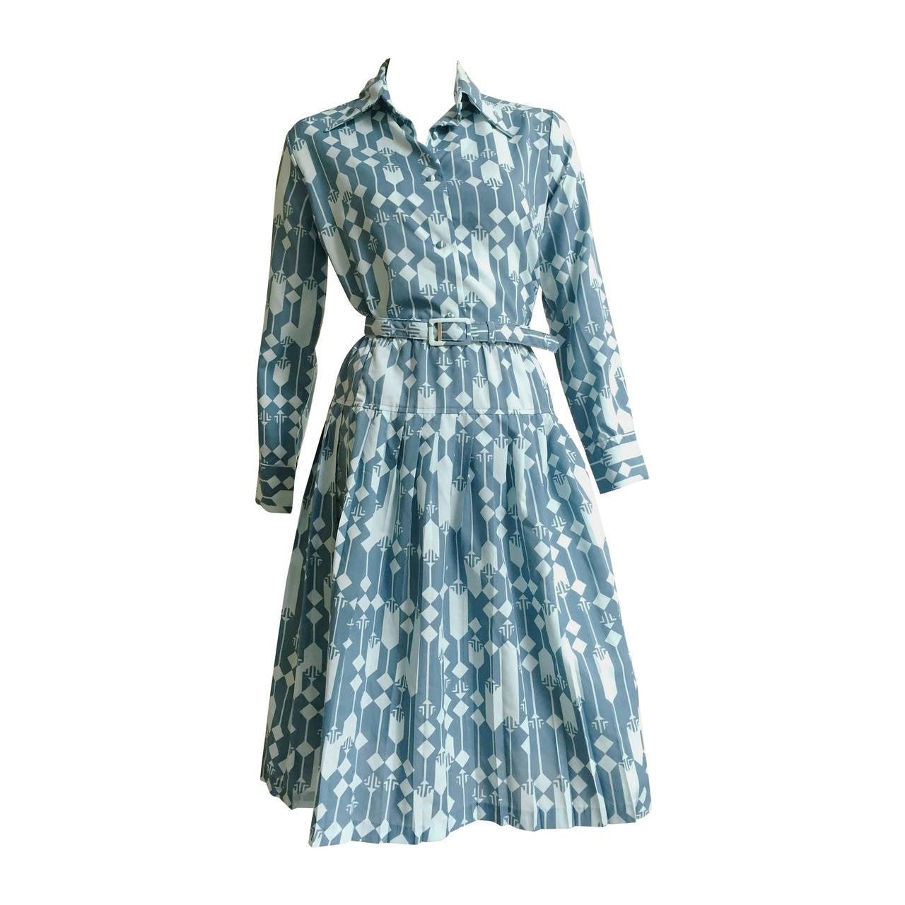 Lanvin Blouse, Skirt & Belt Dress Set Size 8. For Sale