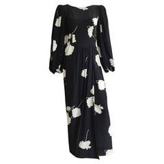 Oscar de la Renta 90s for Neiman Marcus silk maxi dress size 4.