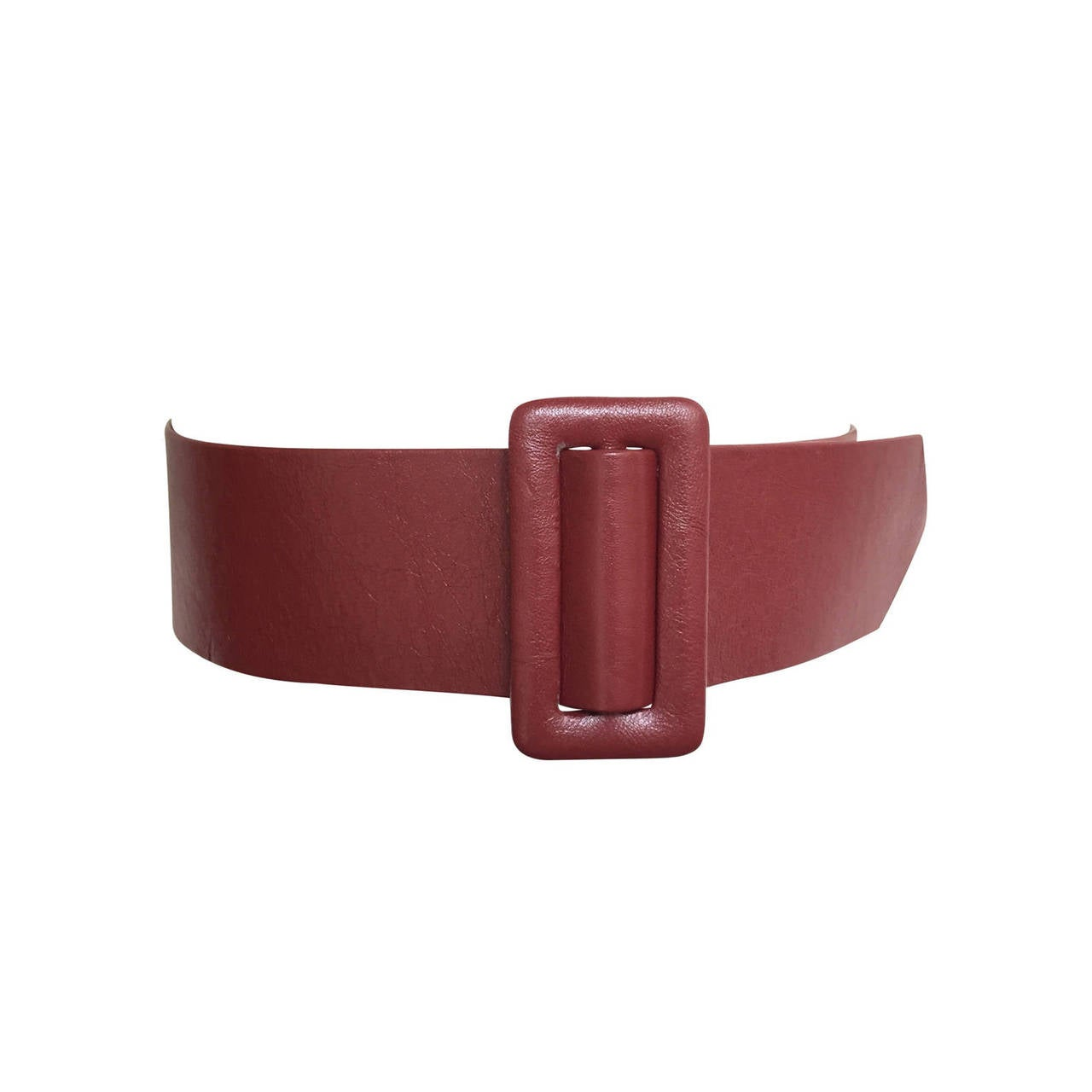 Geoffrey Beene Wide Leather Belt, 1980s  For Sale