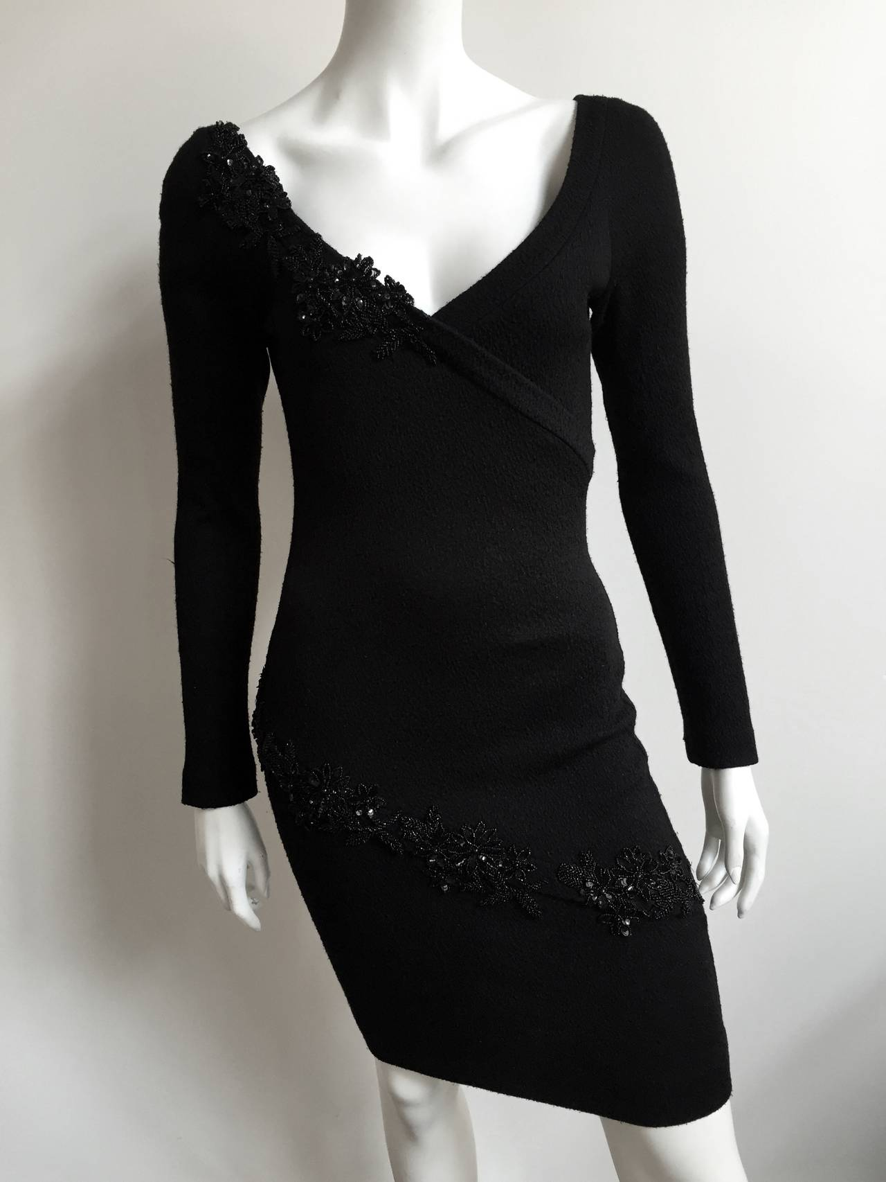 Patrick Kelly 1980s Black Evening Dress Size Small. 2