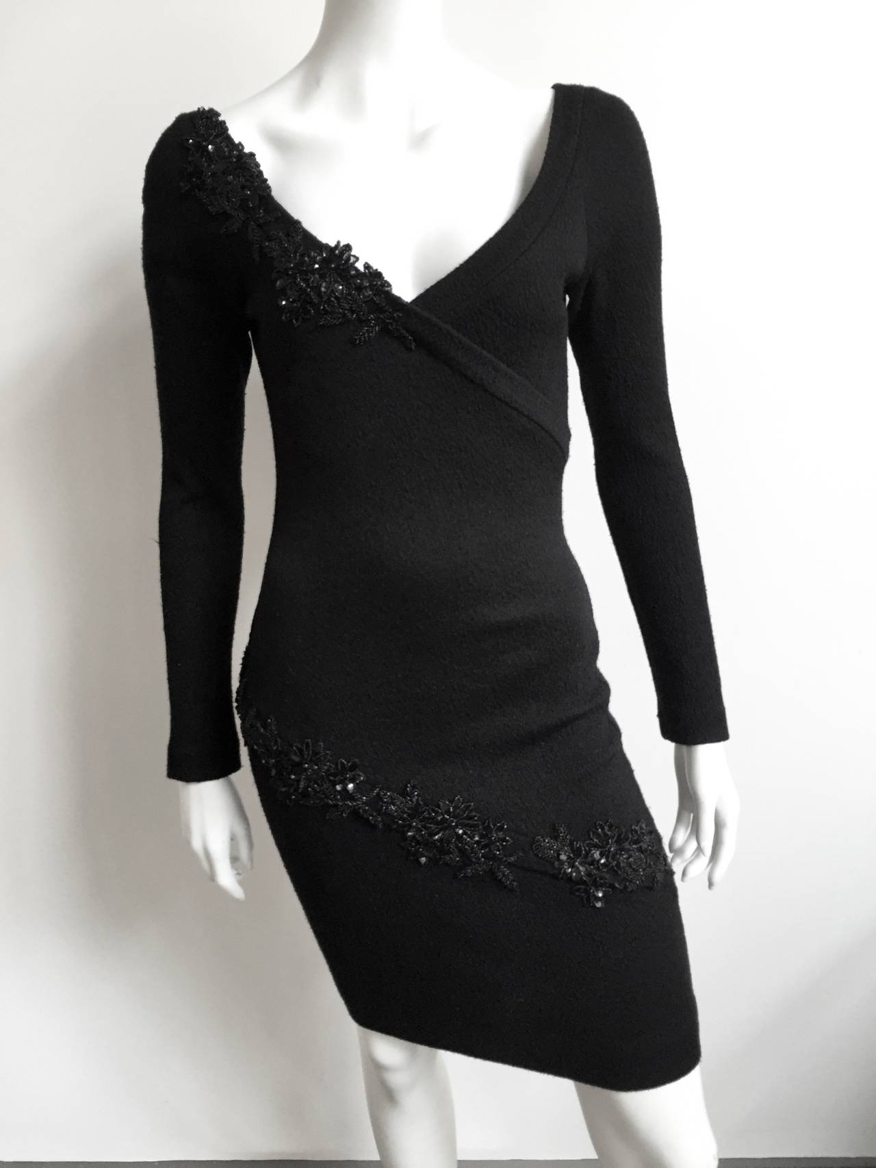 Patrick Kelly 1980s Black Evening Dress Size Small. 10
