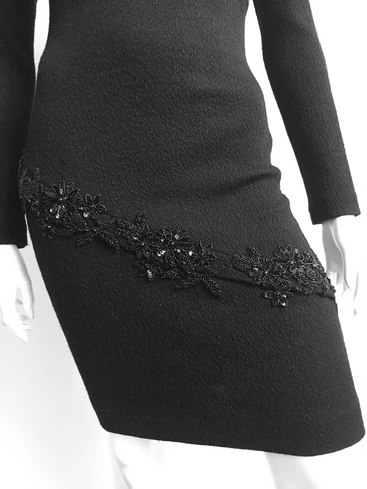 Patrick Kelly 1980s Black Evening Dress Size Small. 4