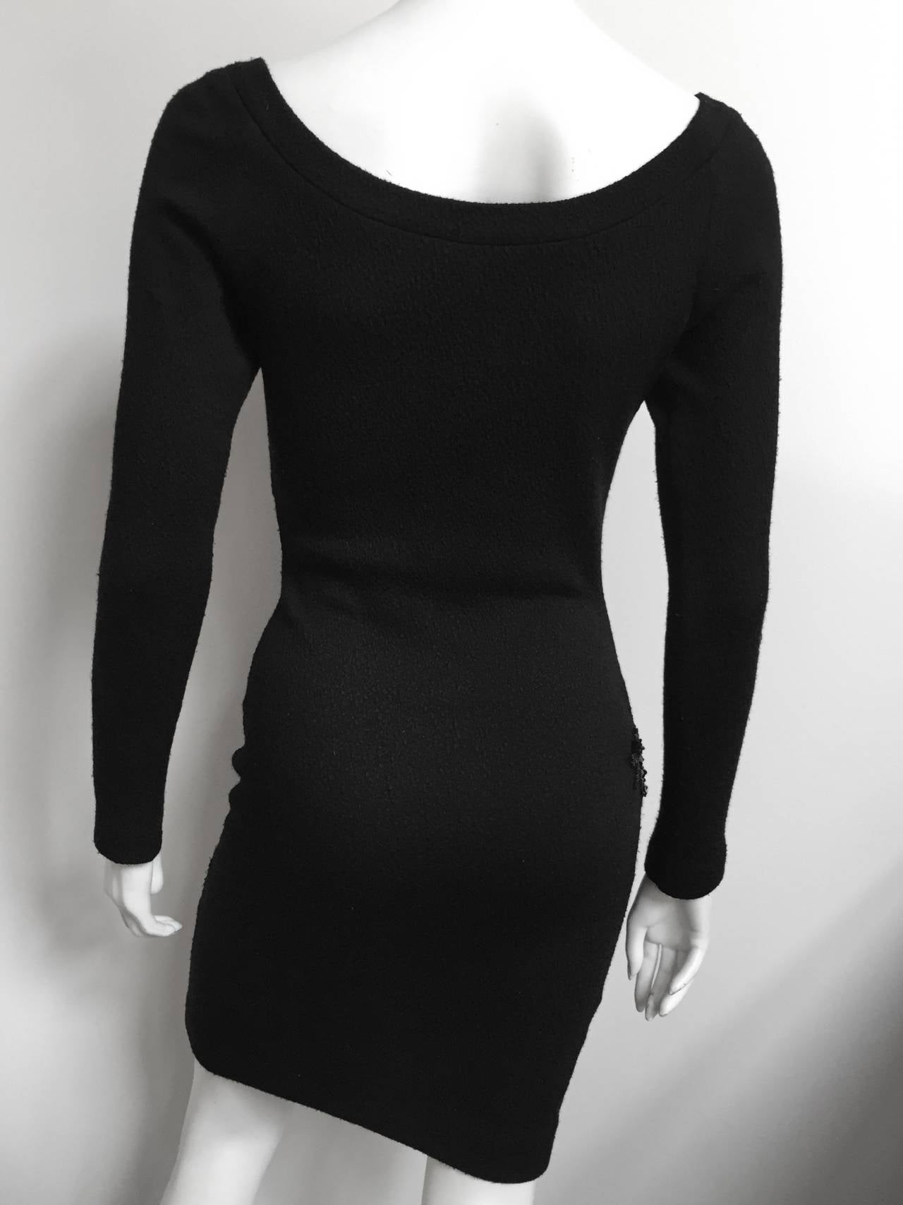 Patrick Kelly 1980s Black Evening Dress Size Small. 6