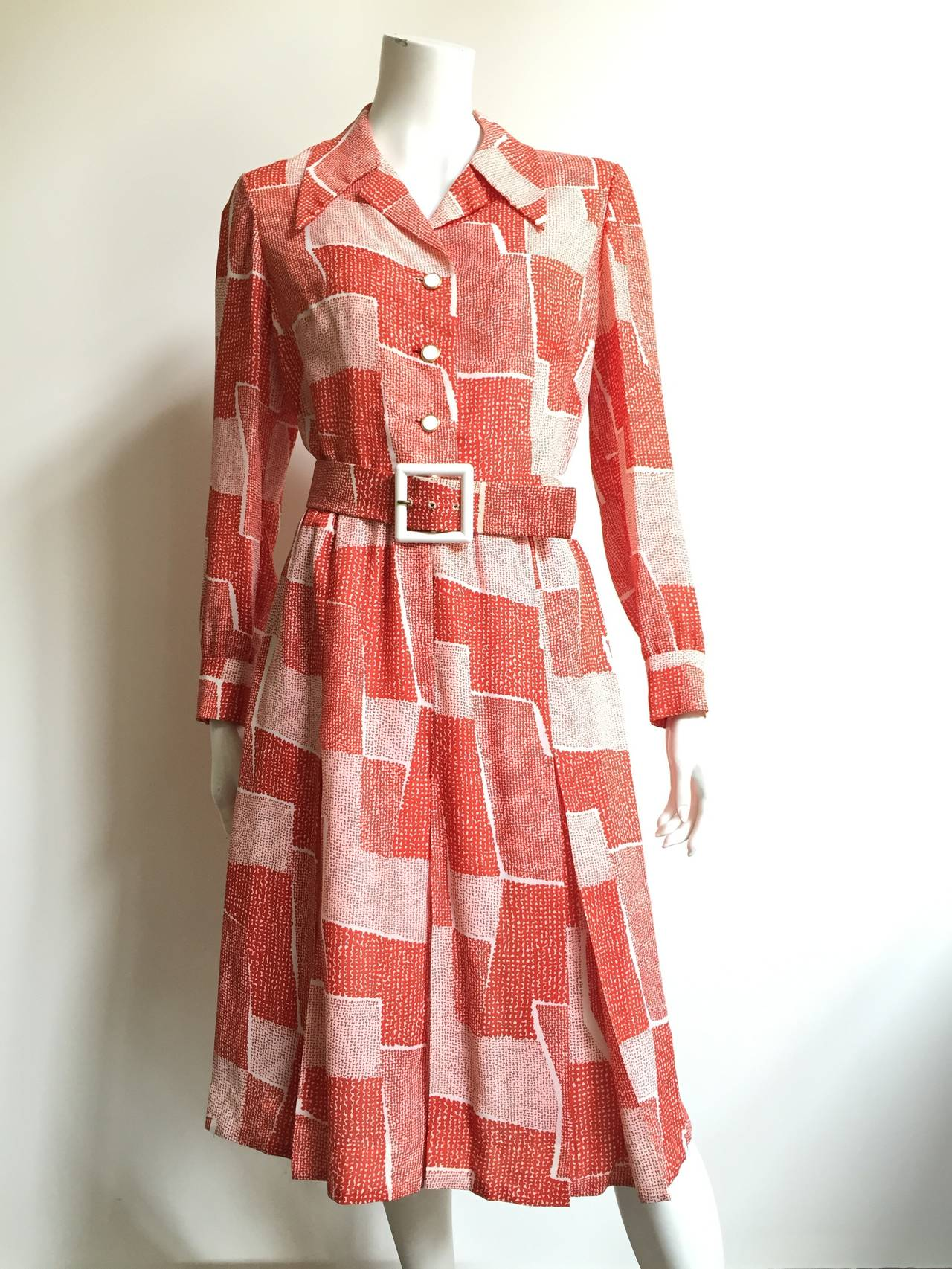 Adele Simpson 70s Dress Size 8. For Sale 5
