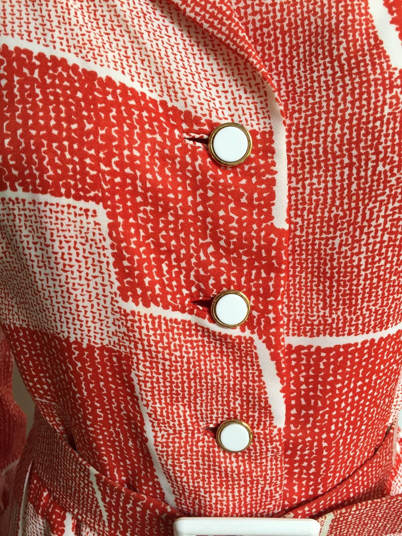 Adele Simpson 70s Dress Size 8. In Good Condition For Sale In Atlanta, GA