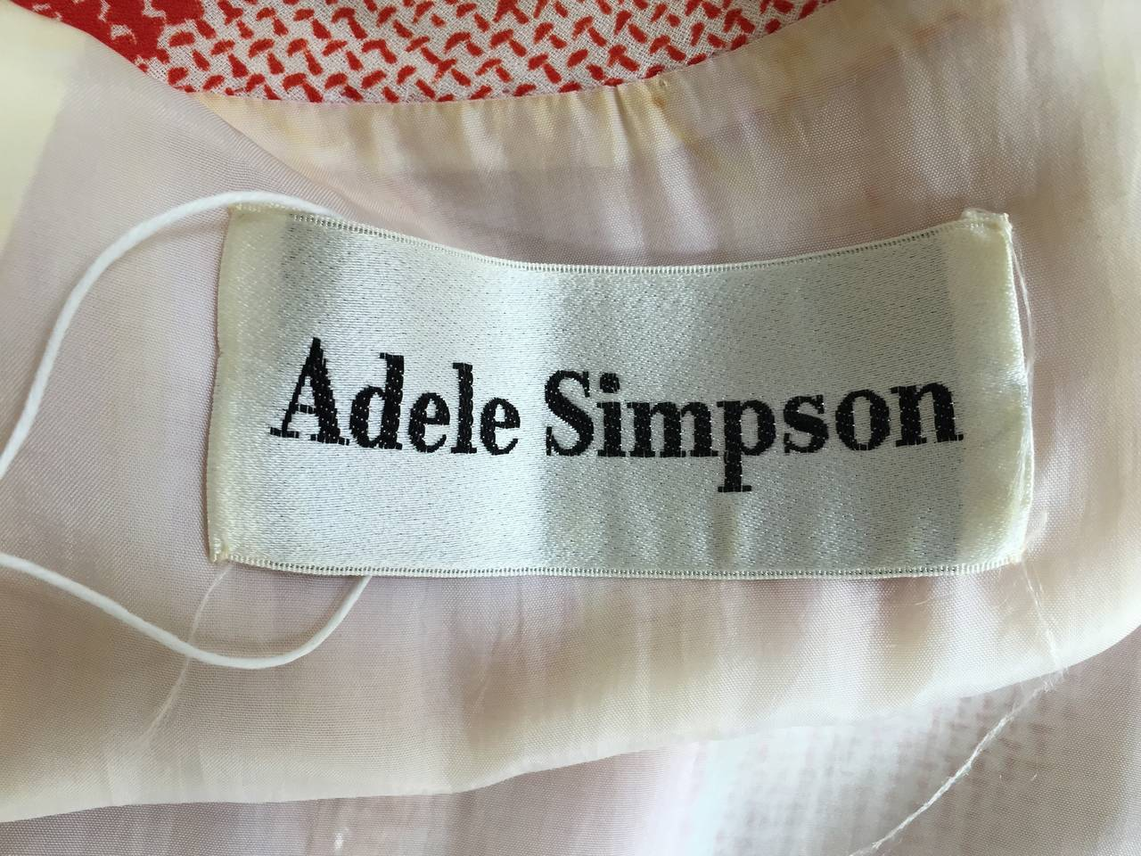 Adele Simpson 70s Dress Size 8. For Sale 4