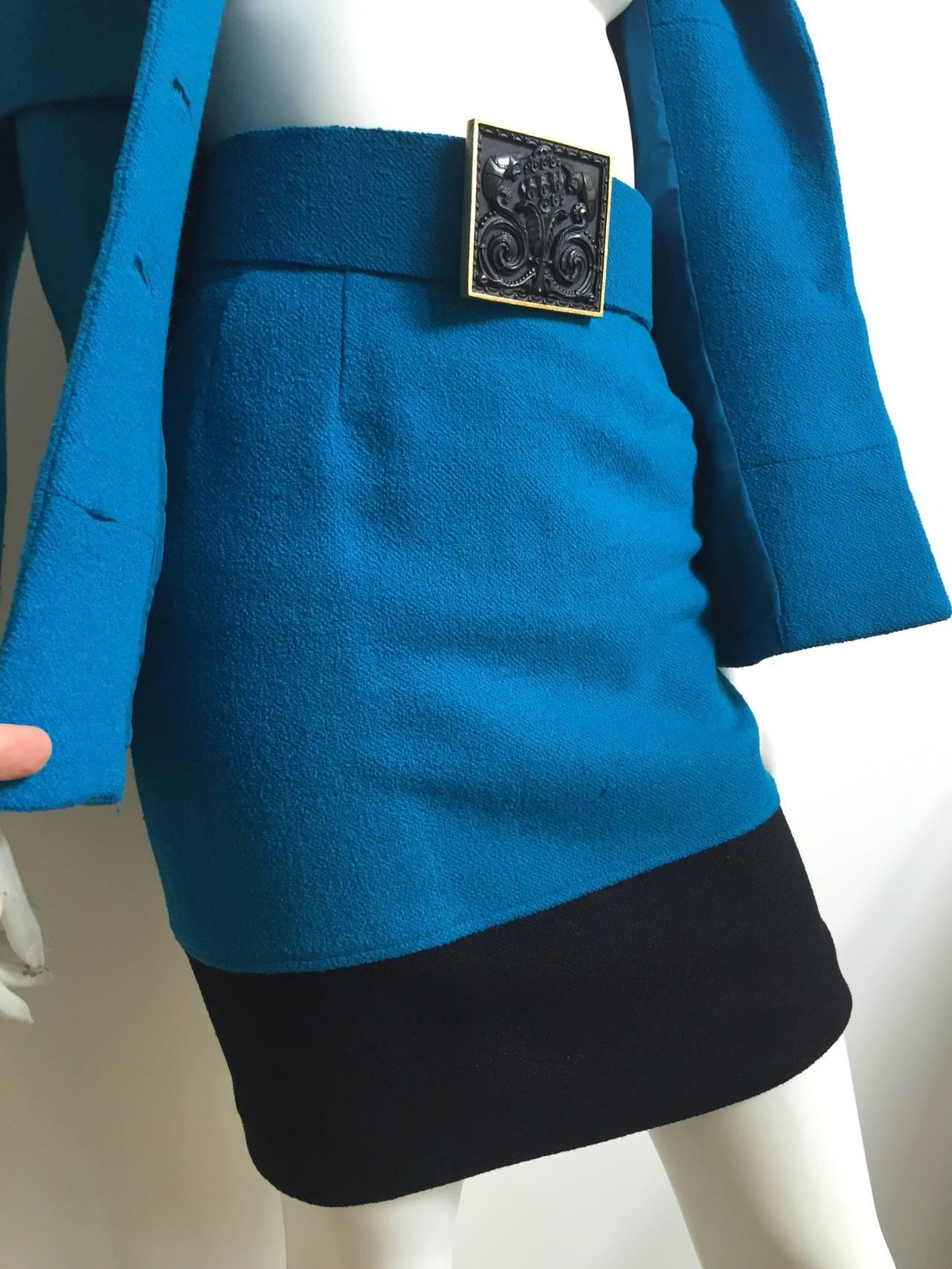 Karl Lagerfeld 80s Wool Skirt Suit Size 4. 4