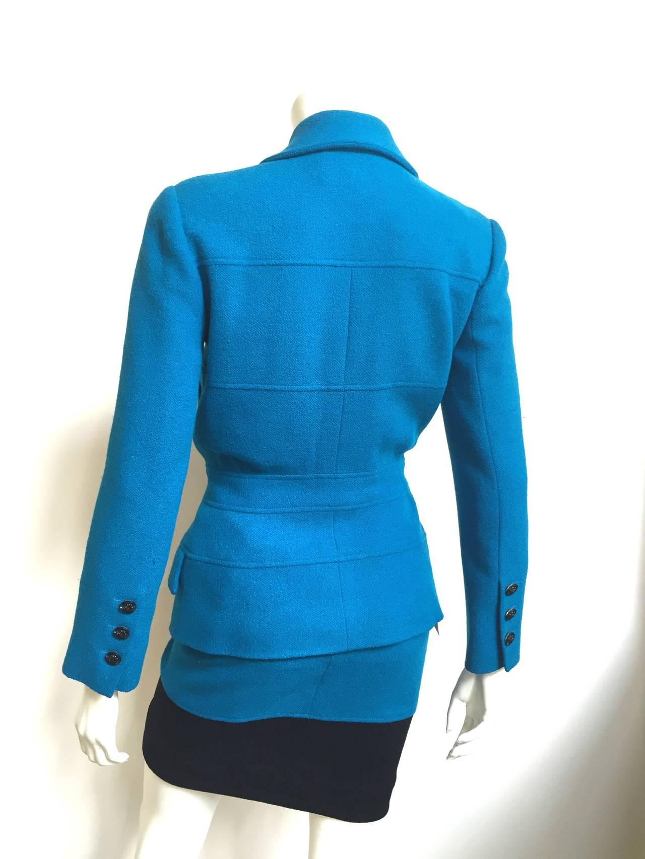 Karl Lagerfeld 80s Wool Skirt Suit Size 4. 6