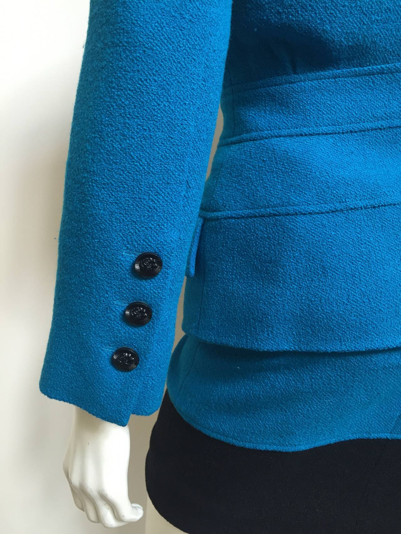 Karl Lagerfeld 80s Wool Skirt Suit Size 4. For Sale 2