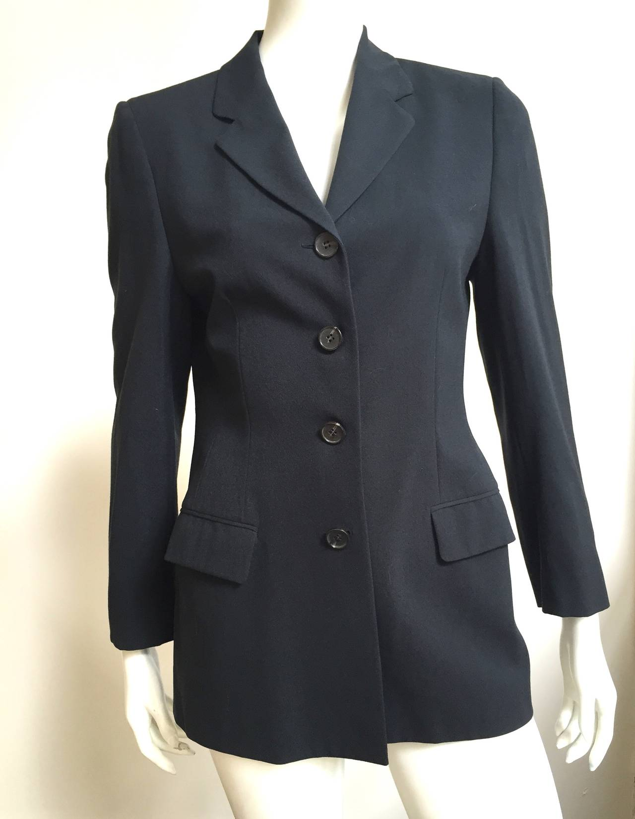Loro Piana Wool Jacket Size 8  For Sale 5