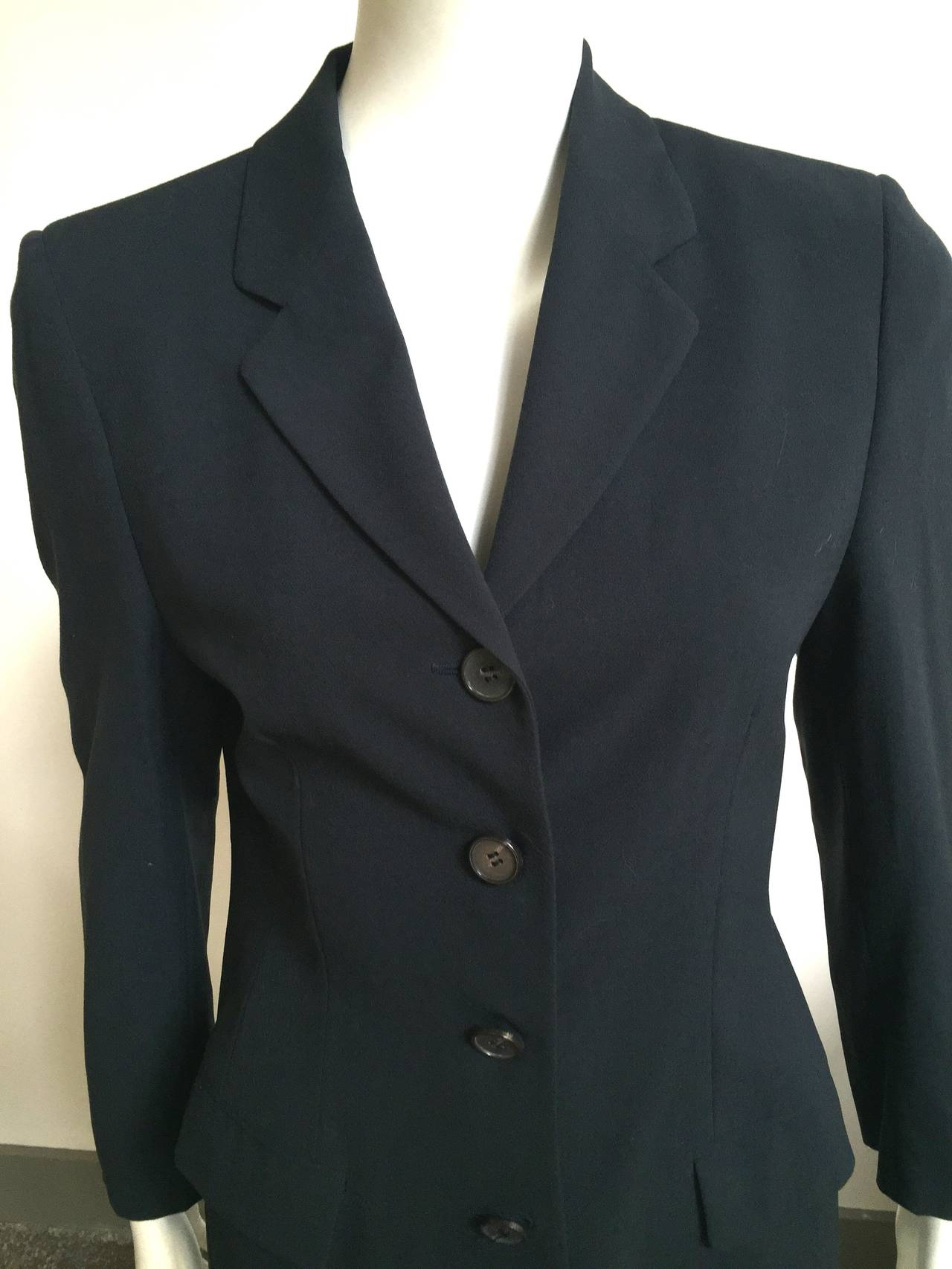 Black Loro Piana Wool Jacket Size 8  For Sale