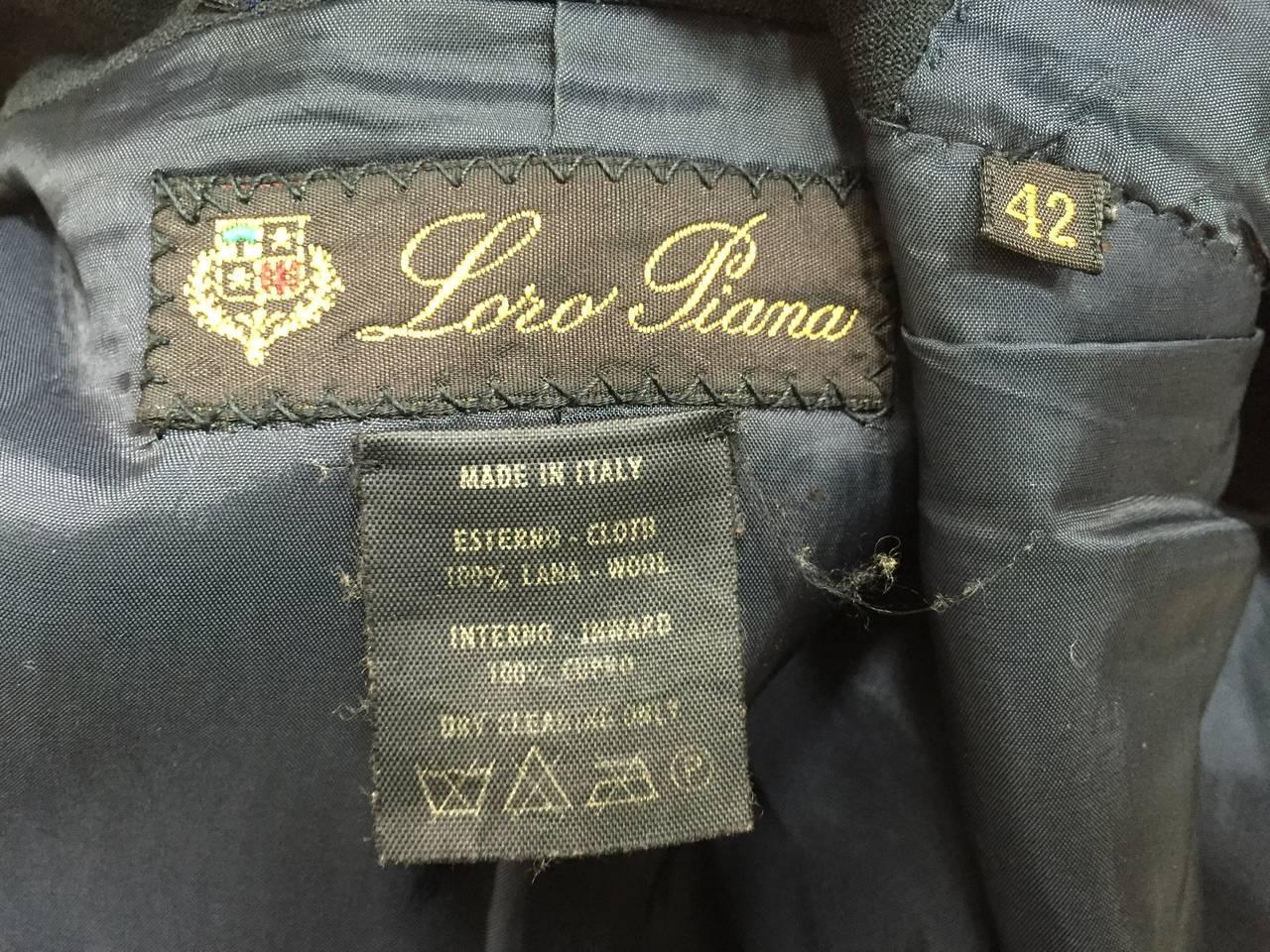 Loro Piana Wool Jacket Size 8  For Sale 4