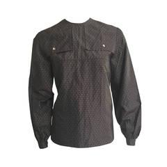 Ferragamo 80s Silk Blouse Size 6.