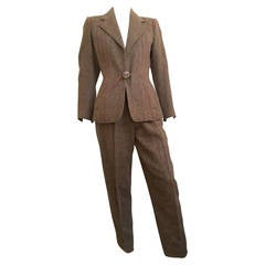 Fendi by Karl Lagerfeld 80s Suit Size 6.