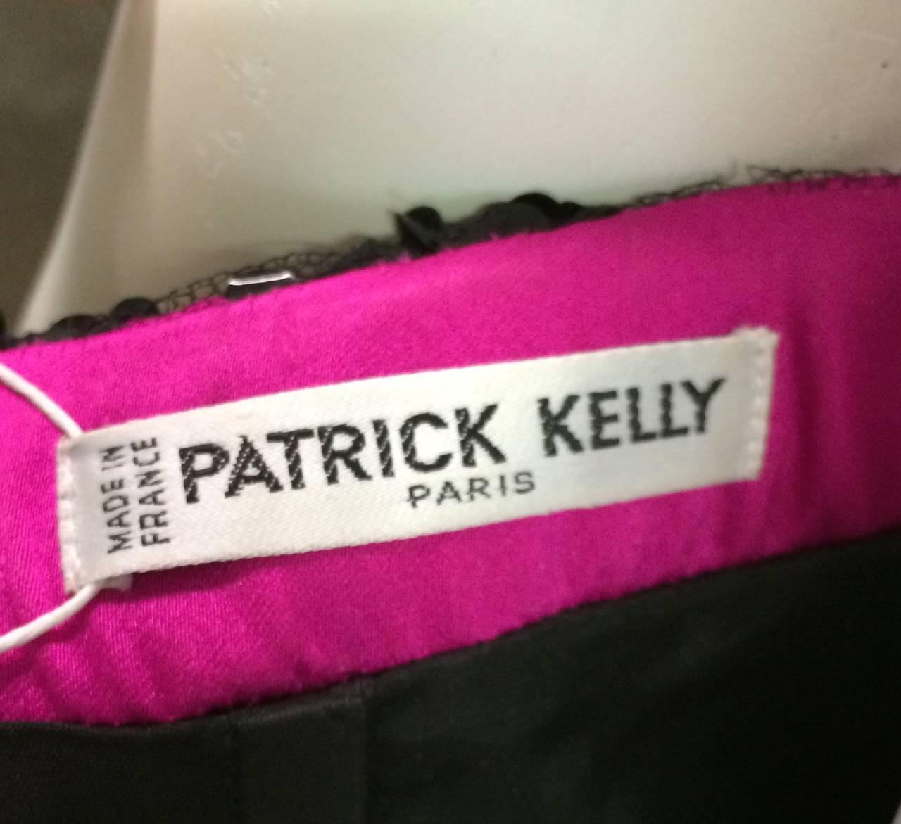 Patrick Kelly Paris 80s sequin strapless cocktail dress size 6. 8