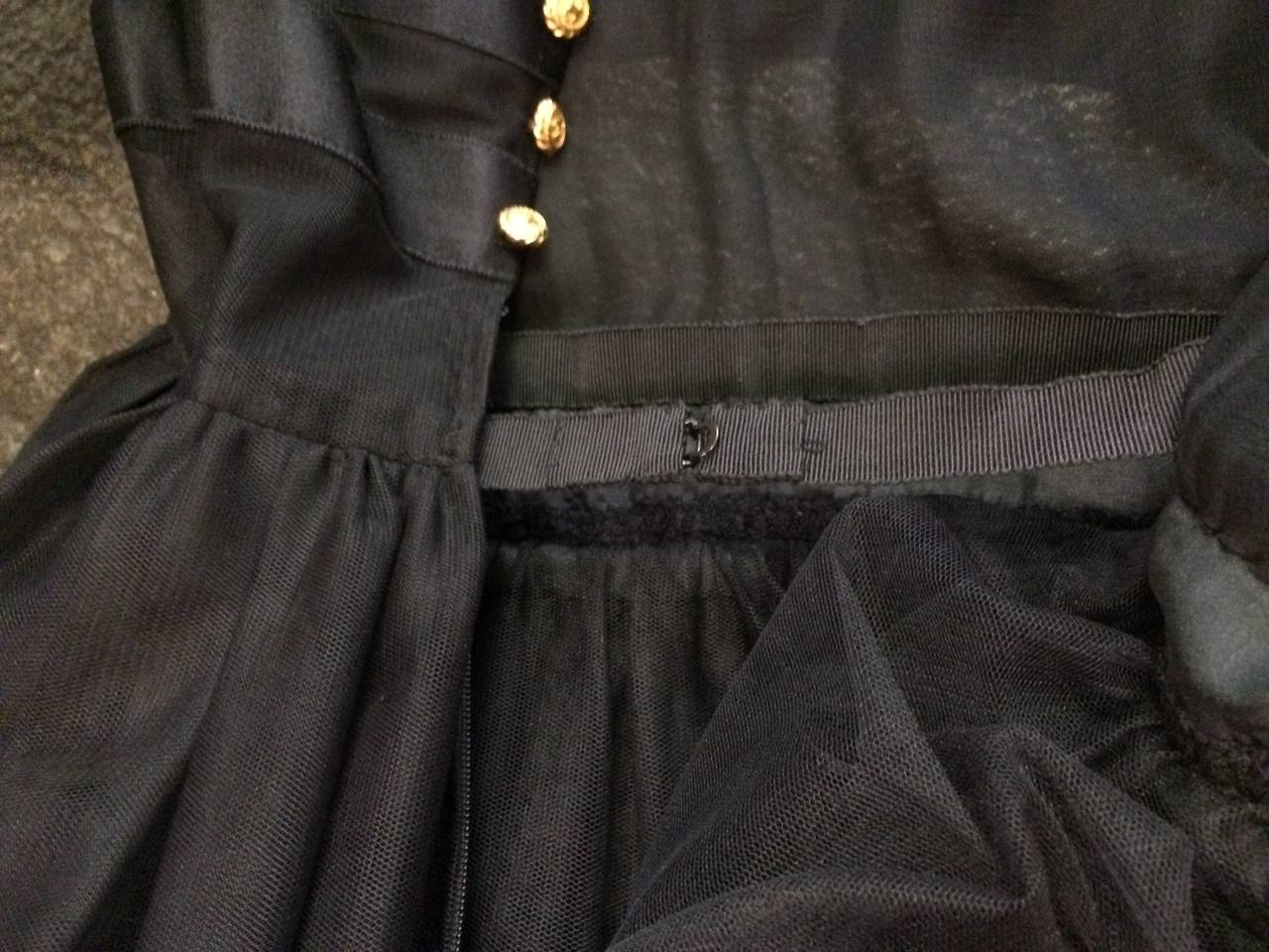 Chanel 1985 silk and tulle ball gown size 0. 5