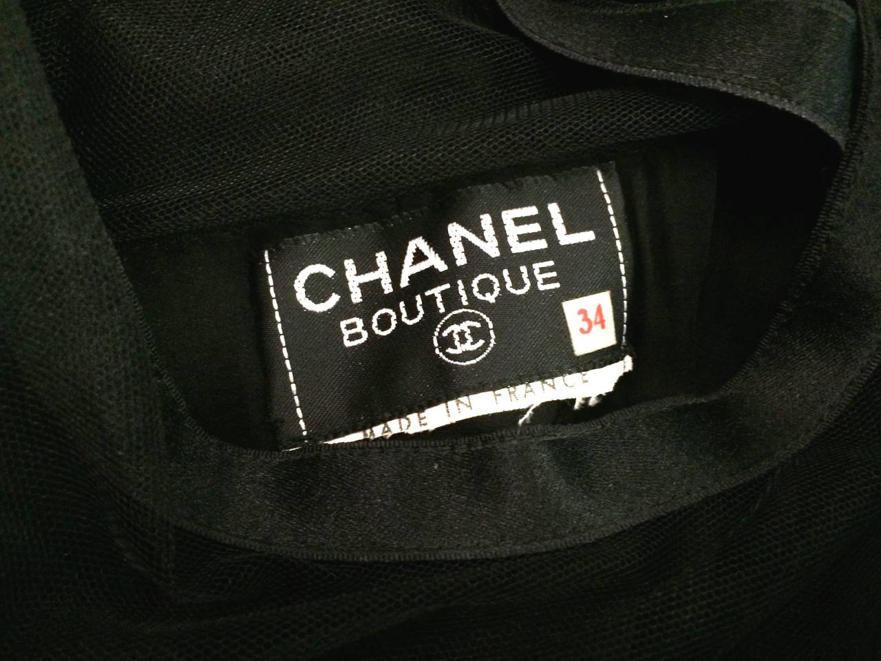 Chanel 1985 silk and tulle ball gown size 0. For Sale 6
