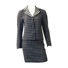 Moschino houndstooth wool suit size 4.