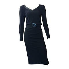 Jean Muir for Neiman Marcus Black Dress with Belt Size 4/6.