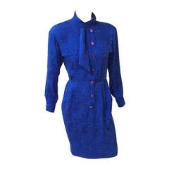 Ungaro Parallele Paris 80s silk dress size 6.