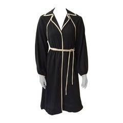 Donald Brooks 70s dress with pockets size 4.