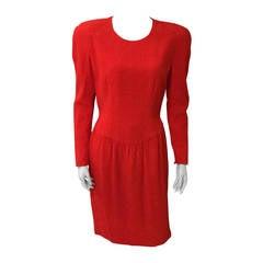 SALE Carolina Herrera for Bergdorf Goodman 80s silk dress size 10/12.