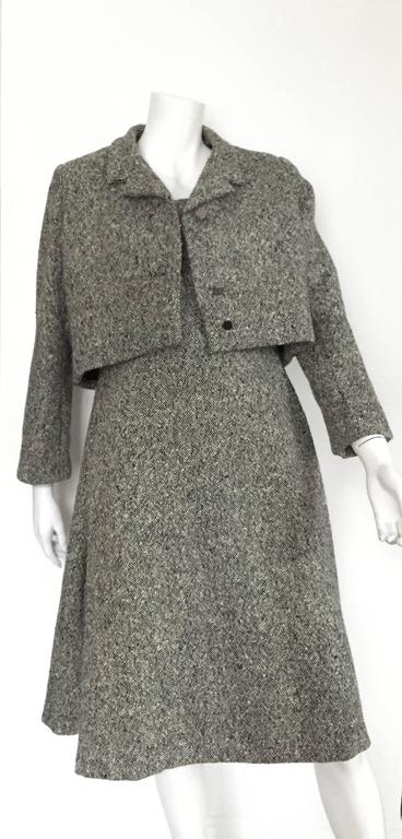Gustave Tassell 1965 wool dress with jacket size 12 / 14.  10