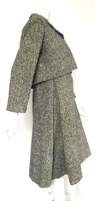 Gustave Tassell 1965 wool dress with jacket size 12 / 14.  4